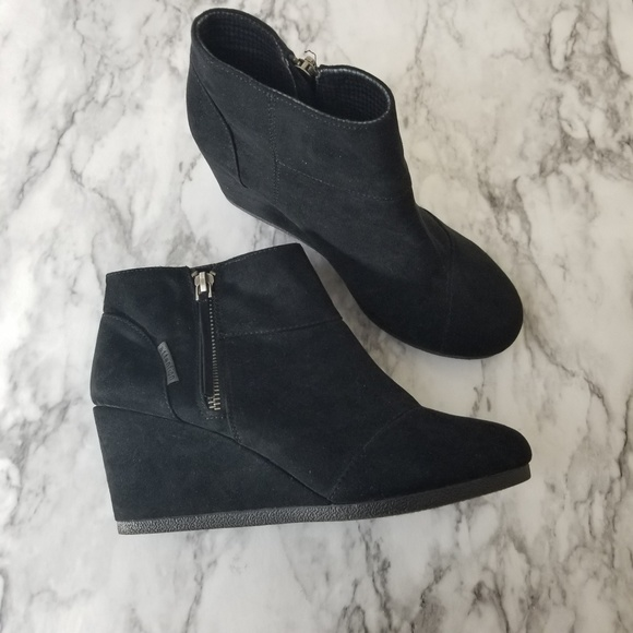 d1f6951db4a attention Shoes - Attention Emmy black wedge booties zip up